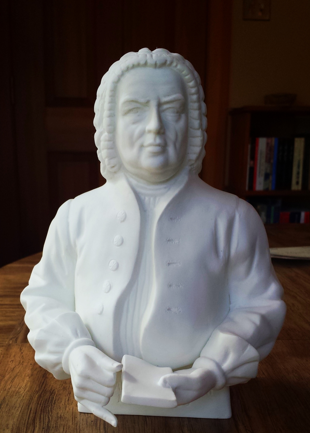 Seattle based piano instructor finds Bach statue.