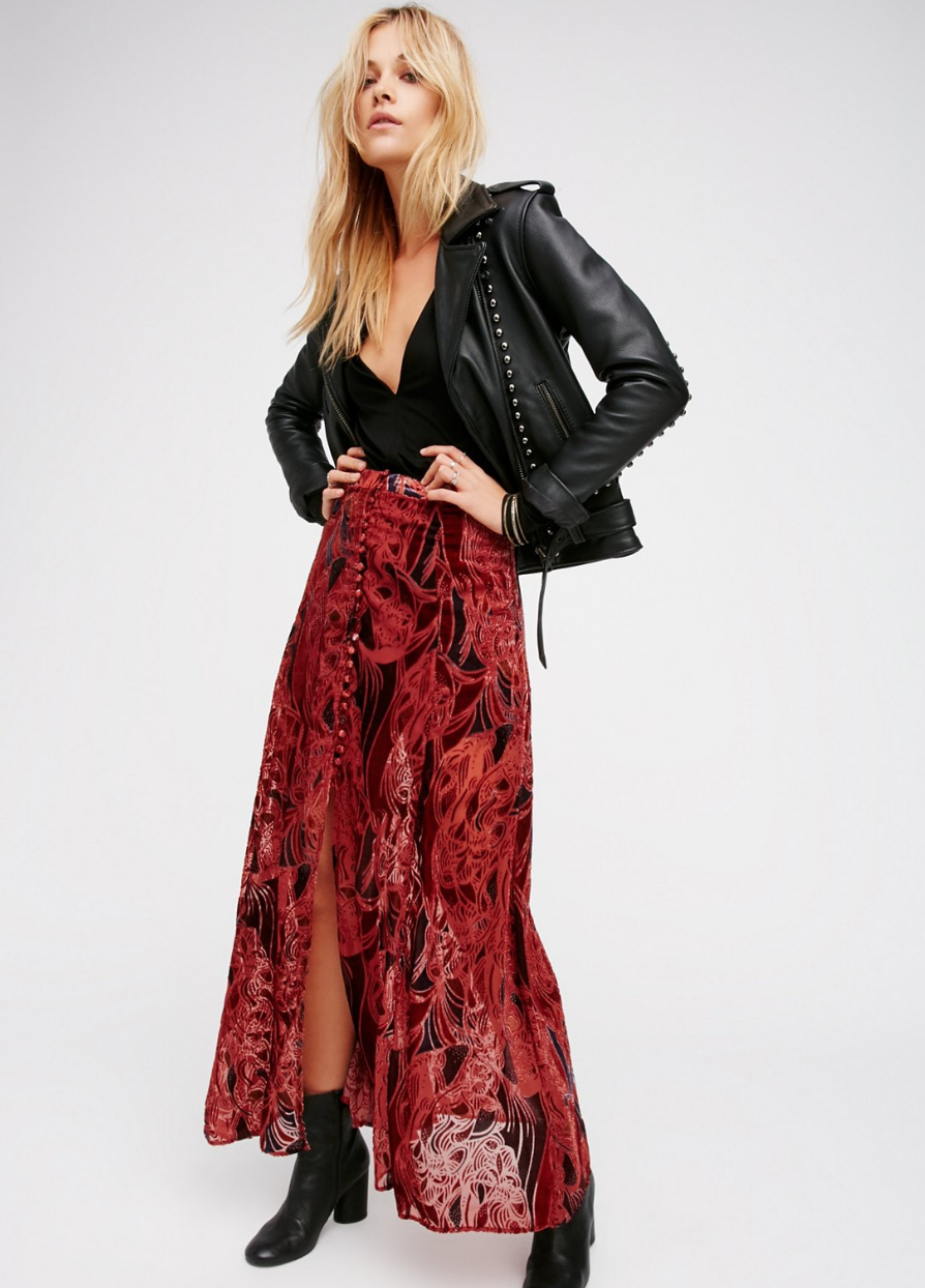 free people / love me so right velvet maxi / $90 (on sale!)  i can feel the wind in my hair already