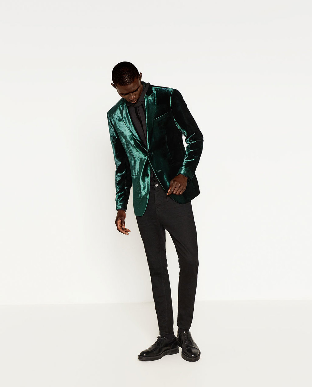 zara / velvet blazer / $199  and not to leave out the BF... a tribute to the jared leto.  xoxo,  Anne