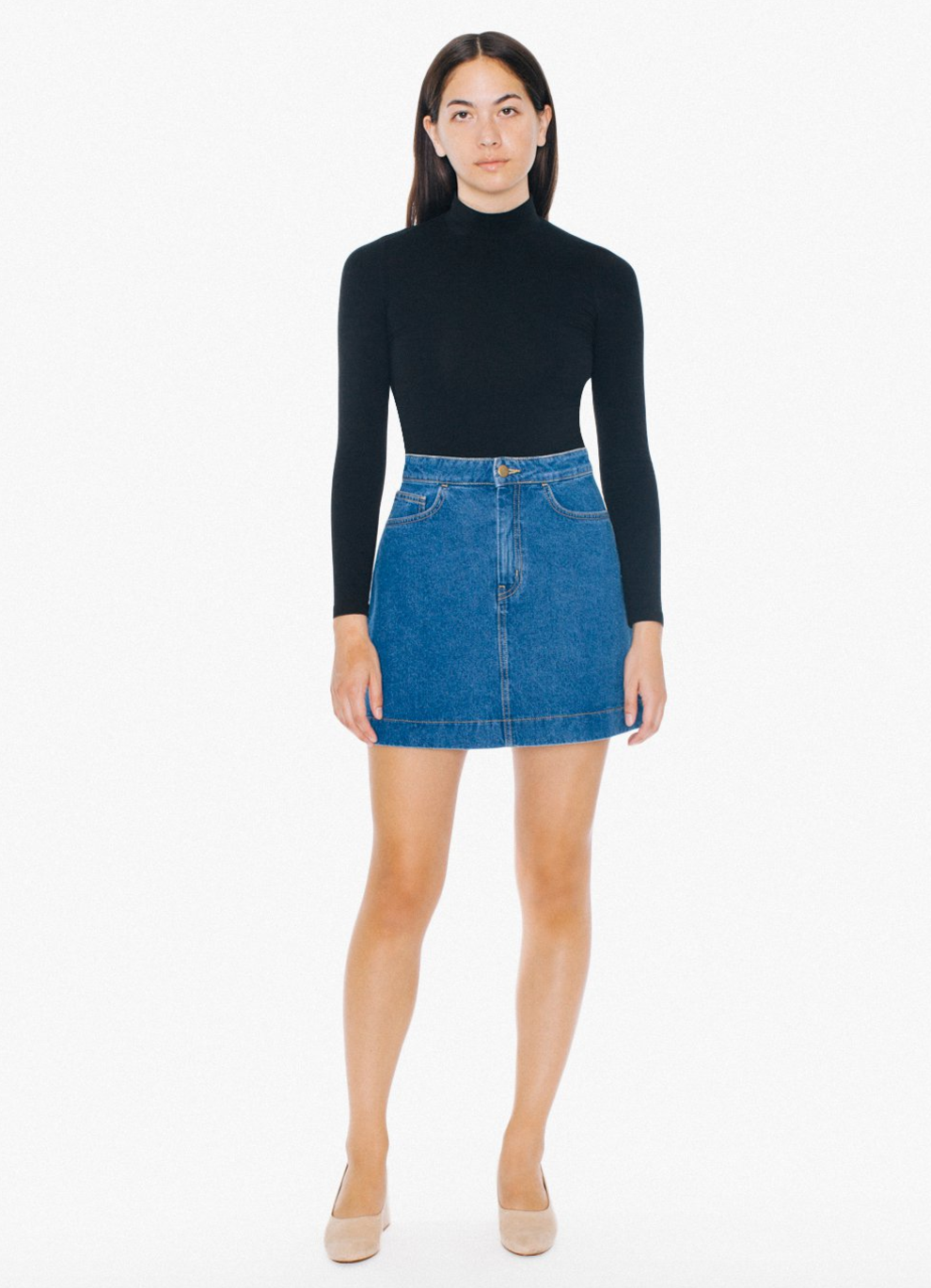 Easy Denim A Line Skirt $29 / I live in my denim skirt and if you need one this style looks very flattering and will last years