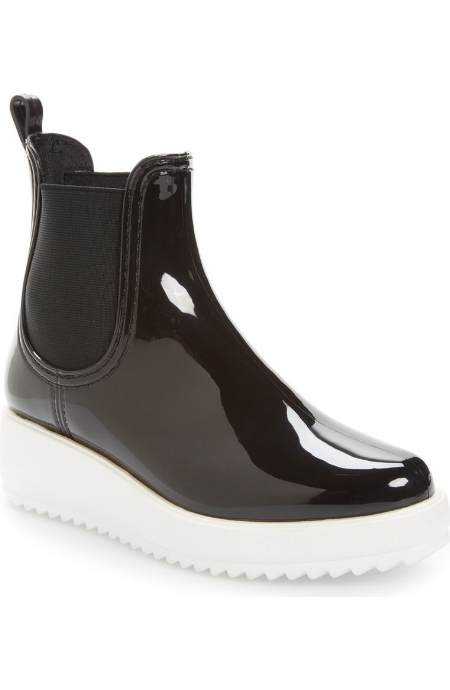 Hydro Chelsea Platform Rain Boot / Jeffrey Campbell / $55  These lean in more to the grunge factor