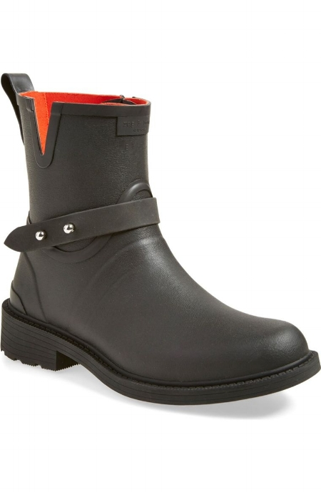 Moto Rain Boot / Rag & Bone / $225 Pricey but based on functionality you can wear these in rain and snow & they'll be worth the investment. LOVE l'orange
