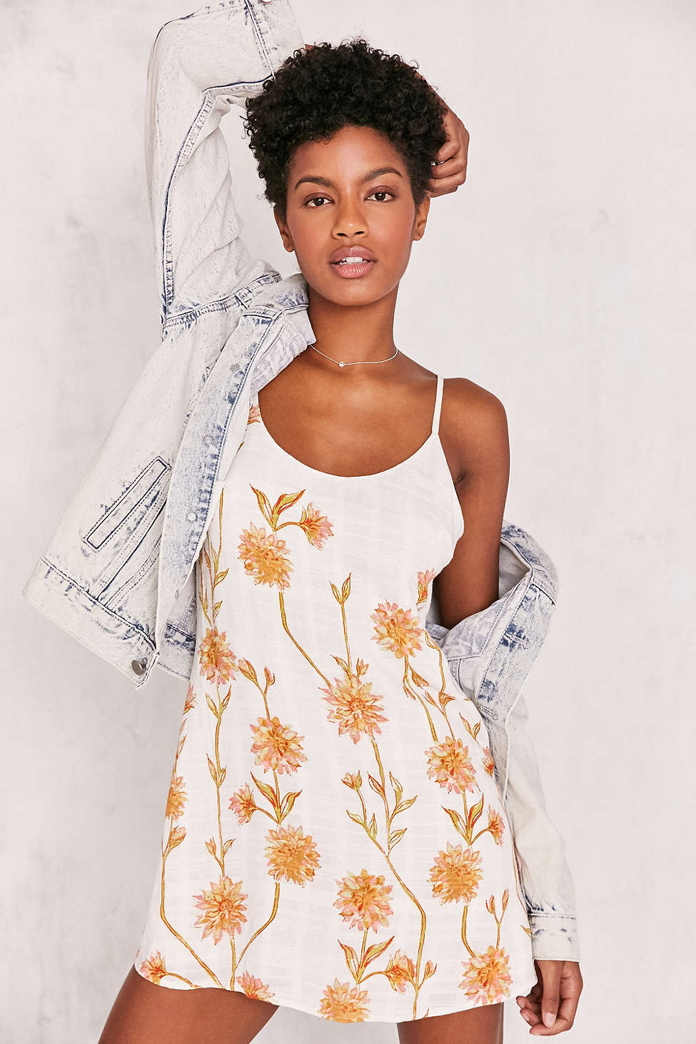 Kimchi Blue Cambridge Floral Dobby Slip Dress  / Urban Outfitters / $69