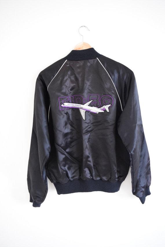 Jet Bomber Jacket  / Etsy / $38