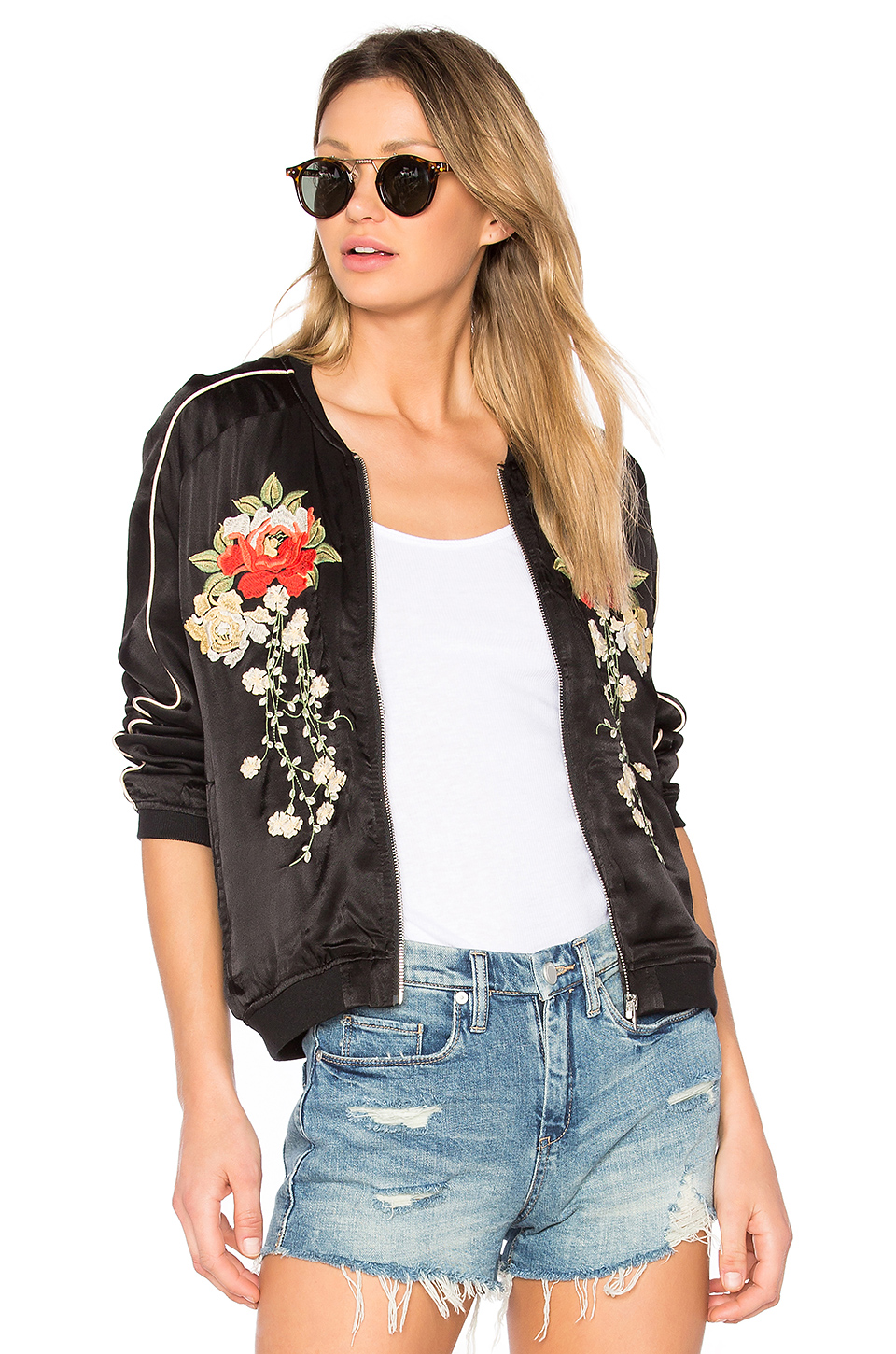 Embroidered Bomber Jacket  / Revolve Clothing / $128
