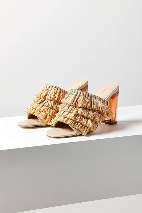 Raffia Lucite Heel / Urban Outfitters / $98  Shimmy worthy  Let me know how you're feeling about slides below! xoxo