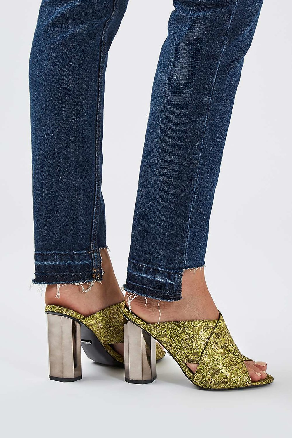 RAZZMATAZZ Facet Mules / Topshop / $45  These are a work of art and that HEEL