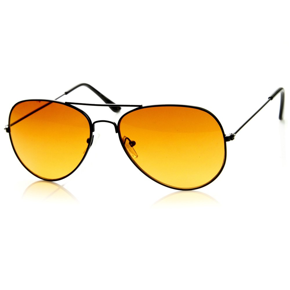 Not sure of the quality of these but I love these sunset colored shades  Retro Blue Blocking Roadster Style Metal Aviator Sunglasses / ZeroUV / $10