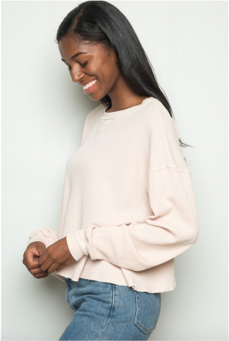 For staying warm at night you gotta break out the thermal  Laila Thermal Top / Brandy Melville / $28