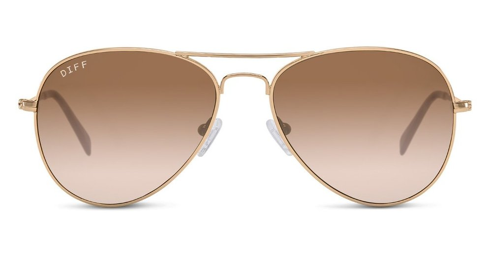 I've been looking for the perfect brown shades and will probably grab these - also this brand does the 1 for 1 model like TOMS so I linked to their brand website for extra <3  Cruz 57mm Metal Aviator Sunglasses / Nordstrom / $75