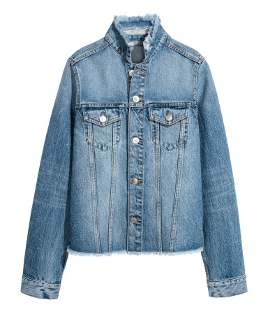This is a steal for the ditressing on the collar and hem  Denim Jacket / H&M / $40