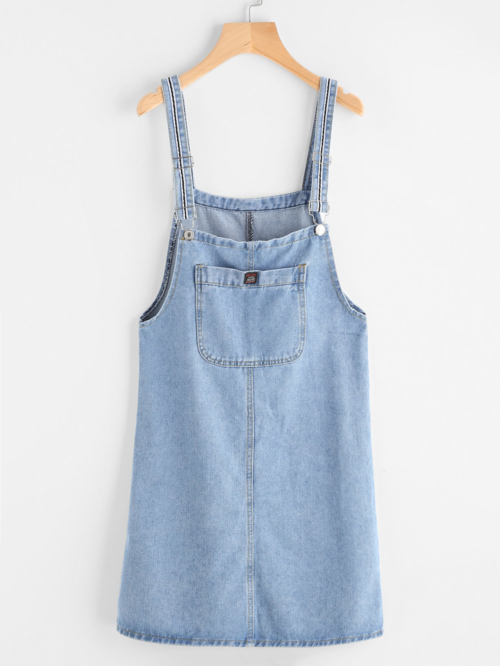 This or get vintage Tommy Hilfiger - I love when these are super simple no rips etc Pinafore Denim Dress With Pockets / Romwe / $16