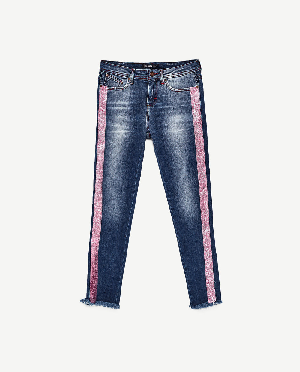 Ziggy baby Mid Rise Jeans with Pink Band / Zara / $30