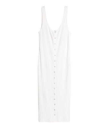 This style is killer and is selling out! Ribbed Jersey Dress / $40 / H&M