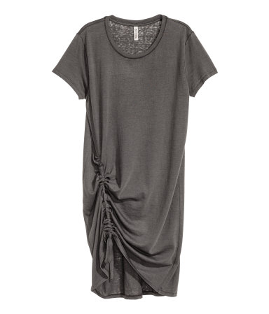 All saints vibes but won't break the bank Jersey Drawstring Dress / $25 / H&M