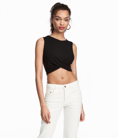 My friend Quinn got a similar style at a boutique in Bali and we were in love with it for amping up outfits  Draped Jersey Crop / $13 / H&M