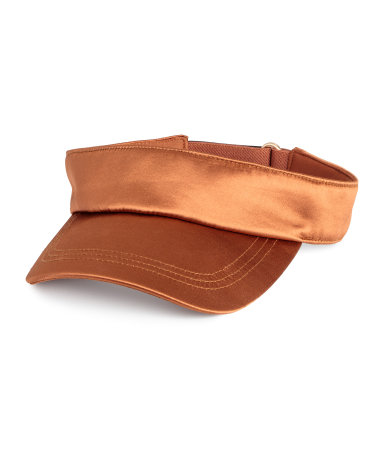 Ohhh BABY I love visors and the silk slicks it up  Rust Visor / $10 / H&M