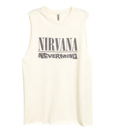 This is impressive for H&M and it's now minee Nirvana Tank Top / $18 / H&M