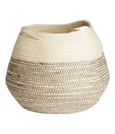 Their baskets are so worldly  Jute Storage Basket / $18 / H&M