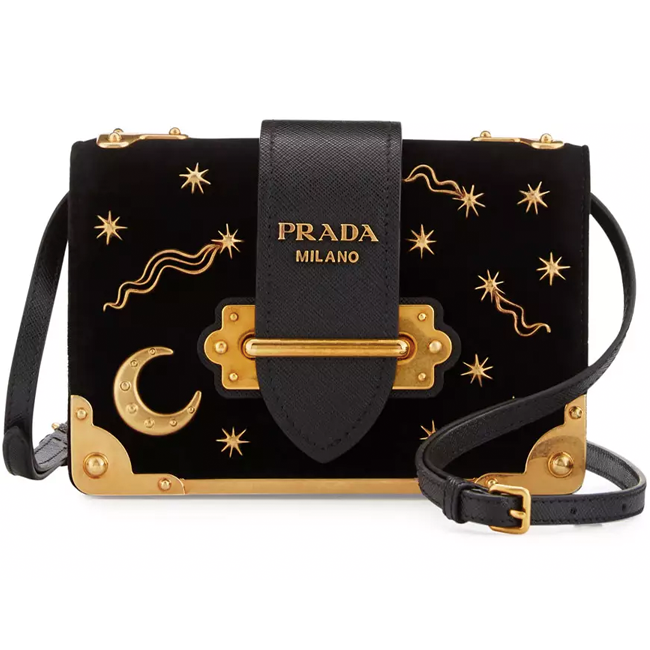pure magic from Prada Cahier Small Stars Moon Trunk Crossbody Bag / Prada / $220