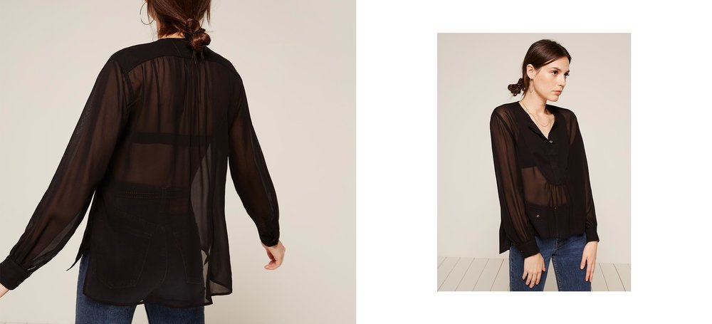 sheer longsleeves are about to blow up this fall just fyi Harris Top / Reformation / $64