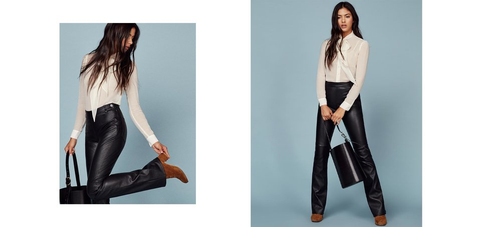 not on sale but noted for next time ... Annie leather pants thank youu Annie Leather Pant / Reformation / $198