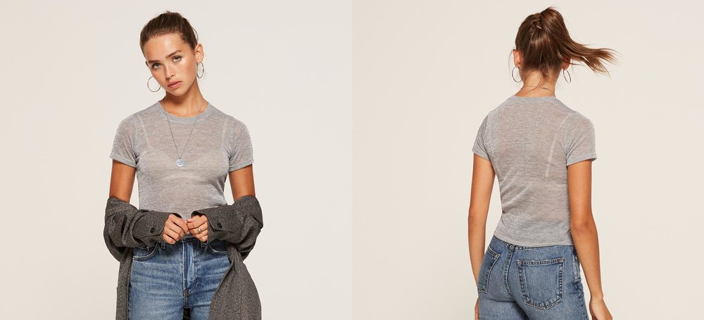 if you need that perfect tee that's a tad sheer, I got you  Fitted Crew Tee / Reformation / $28
