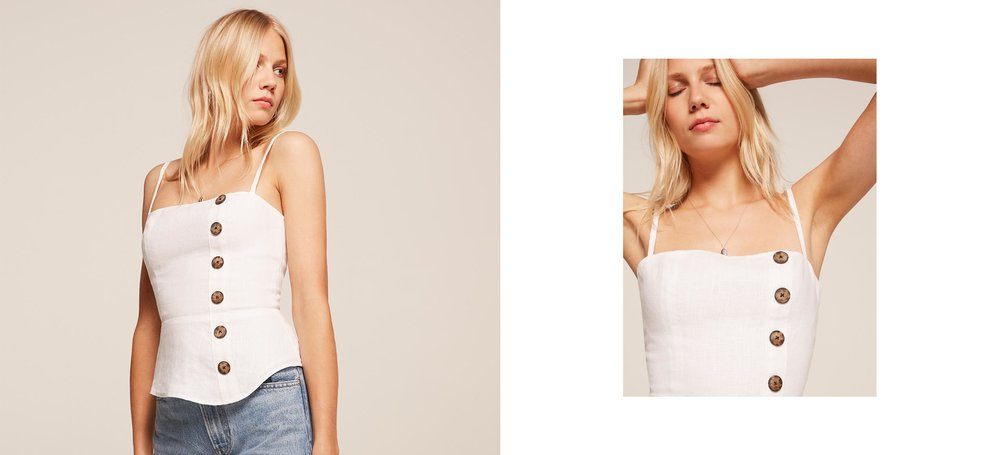 will wait for this baby to go on sale Shell Top / Reformation / $128