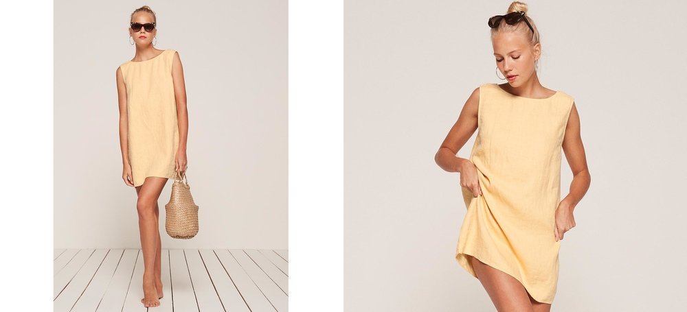 that perfect chill vacay coverup dress  Barbados Dress / Reformation / $98
