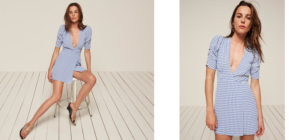 that special blue picnic dress Lorena Dress / Reformation / $139