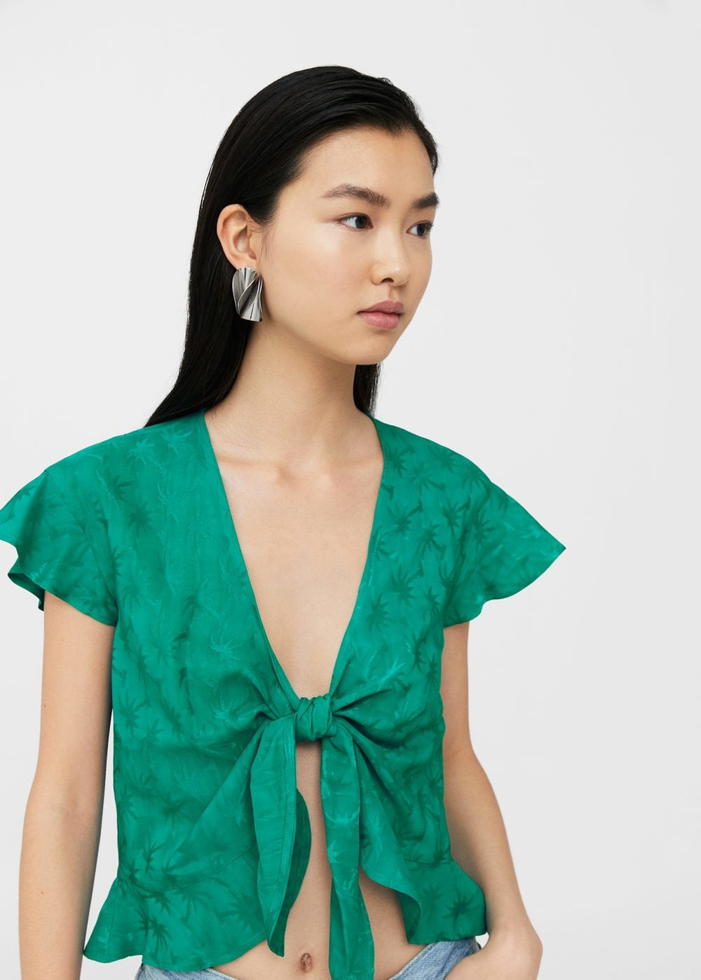 always a sucker for a femme top esp in jade Bow knot blouse / $50 / Mango