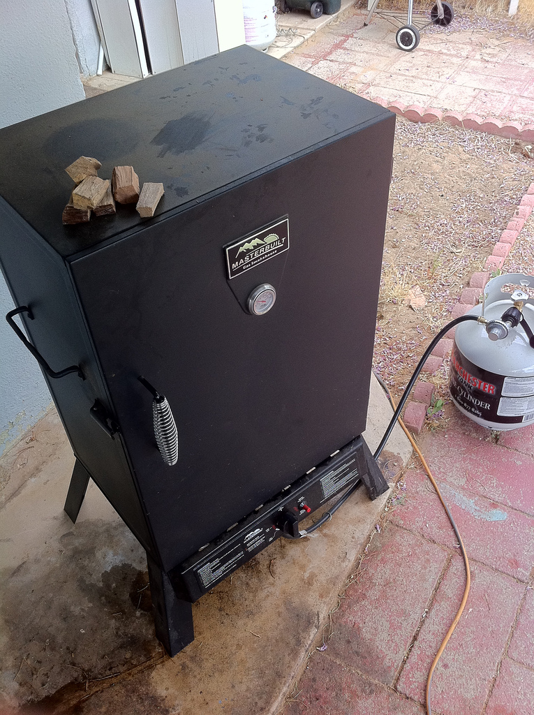 Heat Smoker to 250º