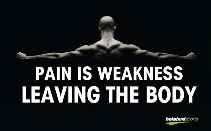 Smärta kan också vara ett tecken på att någonting är väldigt fel i kroppen. Träna aldrig genom ONT. Obekvämt är okej, men inte skarp smärta. Sök hjälp för den :)