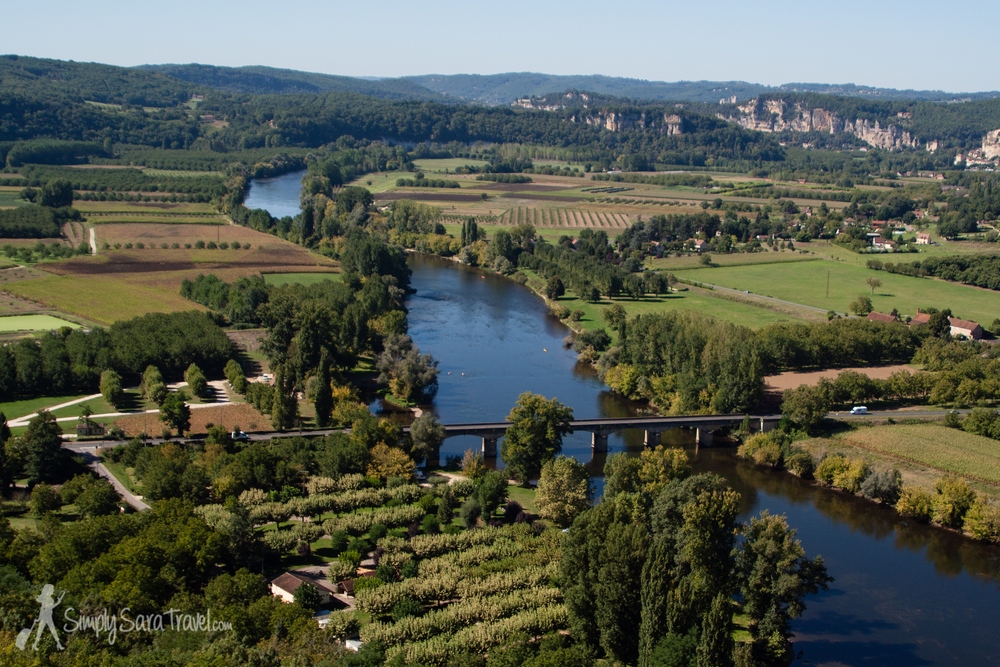 Overlooking the Dordogne river