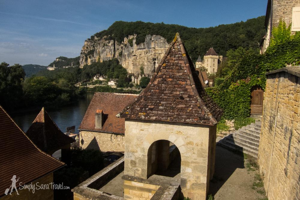 View ofLa Roque-Gageac, Dordogne, France