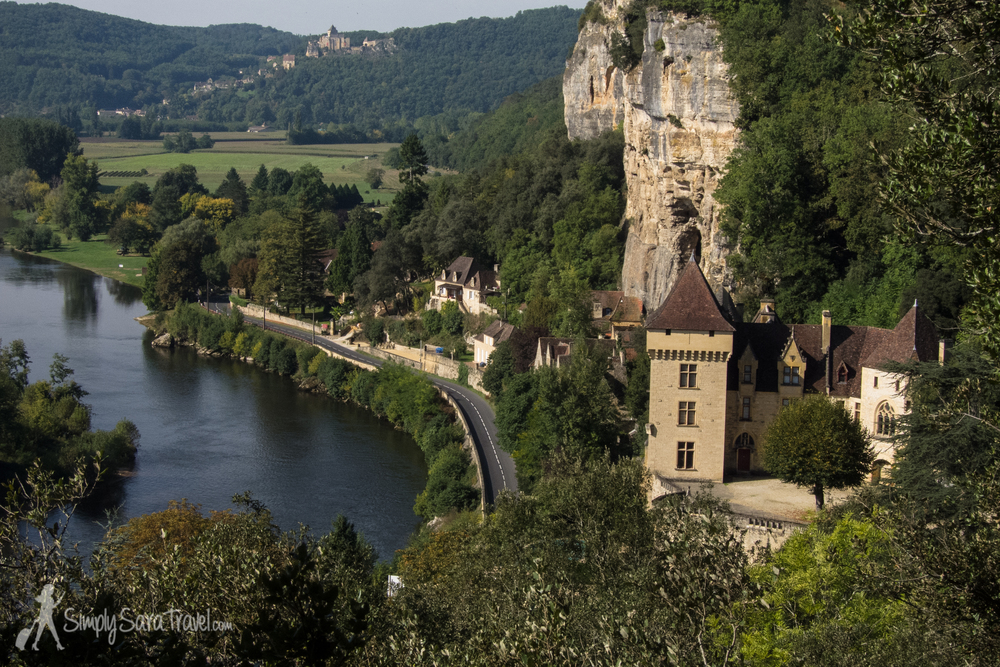The Château de la Malartrie and beyond, looking towards the town of Beynac-et-Cazenac