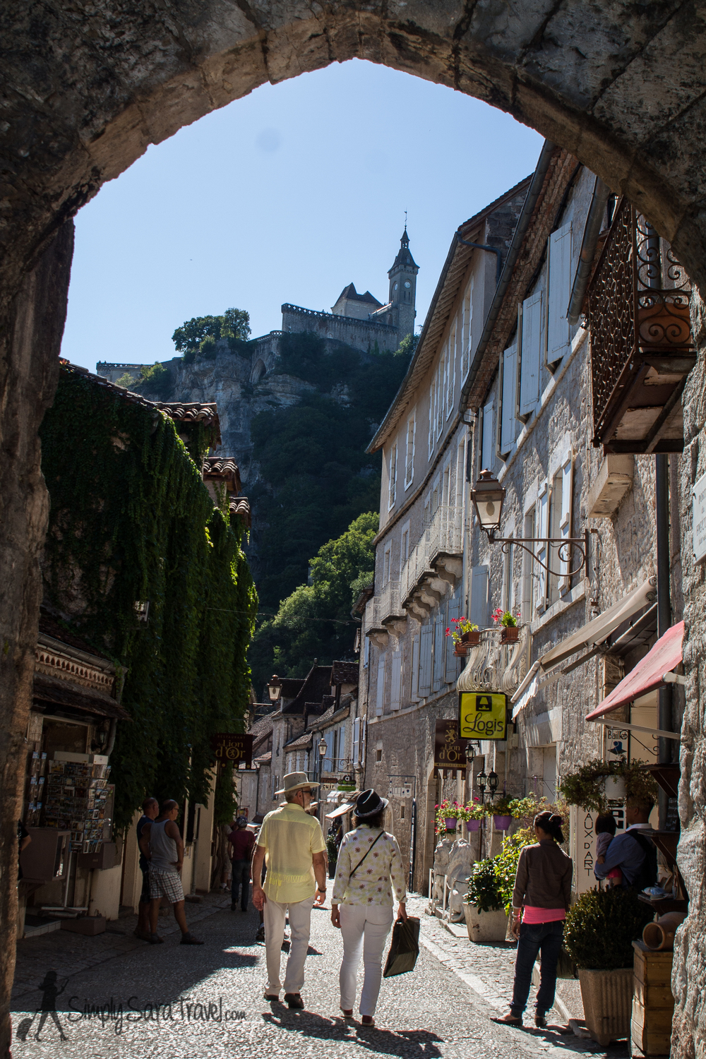 Streets of Rocamadour, France