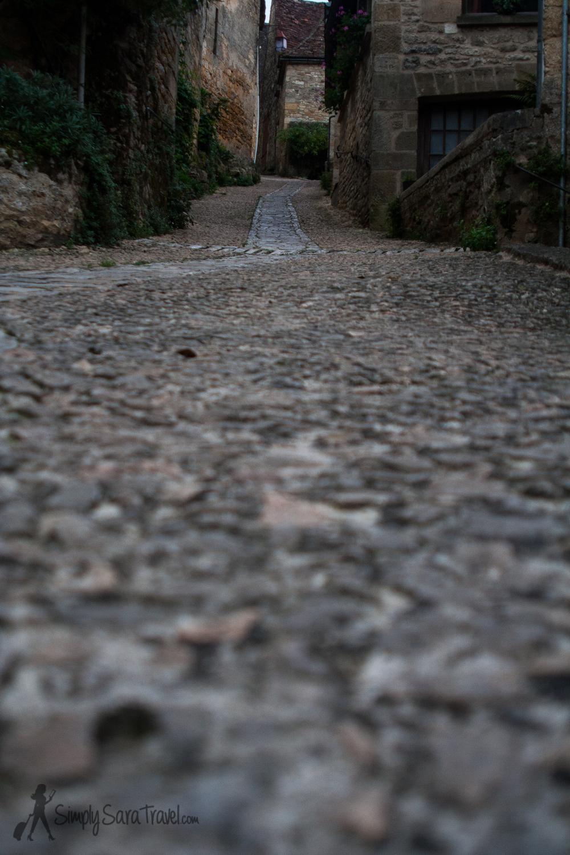 Cobblestone streets of Beynac-et-Cazenac