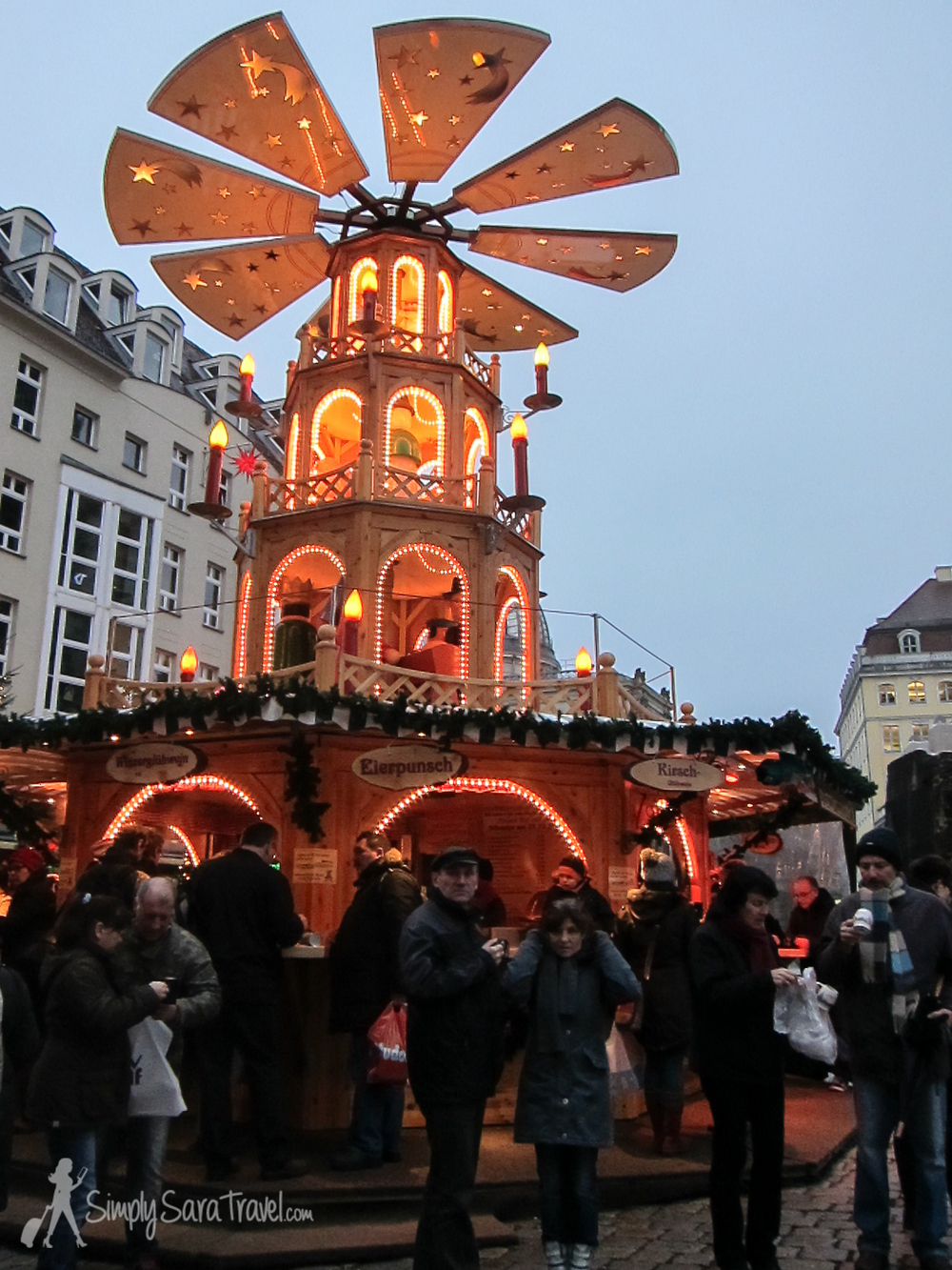 Yea, I had to take a cheap shot with X. But seriously, there are lots of extra people coming to Dresden to visit this very old Christmas market - 2013 marks the Striezelmarkt's 579th year! The market entices 2.5 million visitors annually!