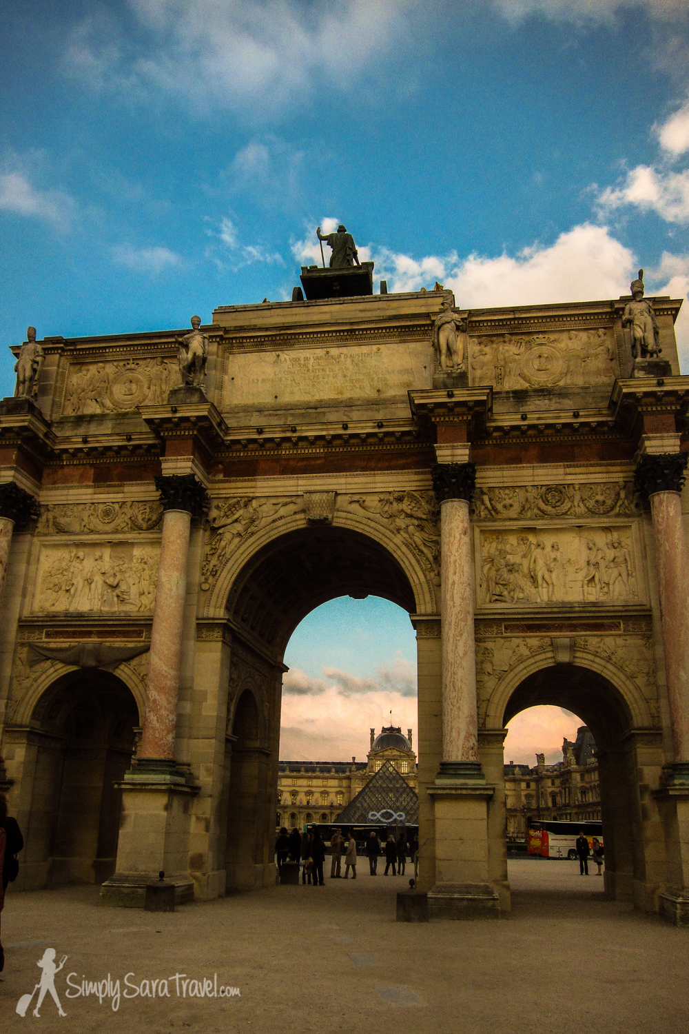 This picture of the Arc de Triomphe du Carrousel also brings back memories of the walk back to our apartment where my surprise birthday party was about to begin. Michael had to try to spur me along despite all the pictures I wanted to take on the walk back!