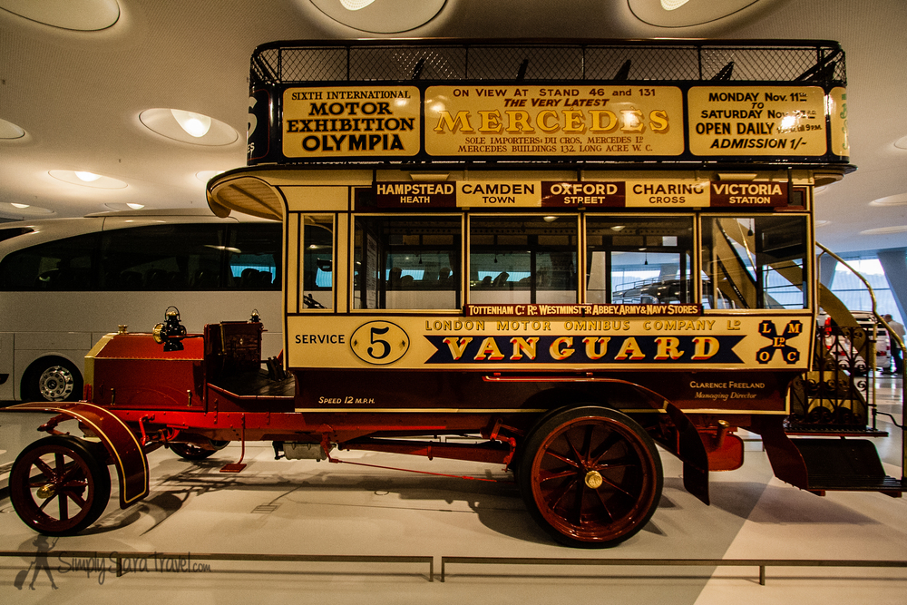 One thing I love to do - travel - was forever changed by the automobile. Check out this old double-decker London bus!