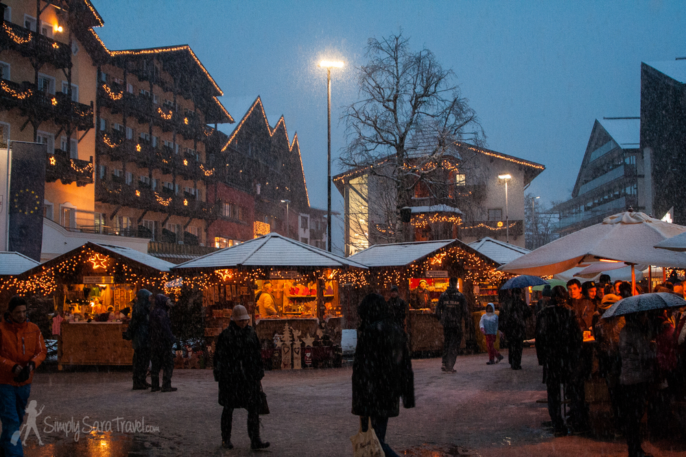 Seefeld was small but it did have its own Christmas market.