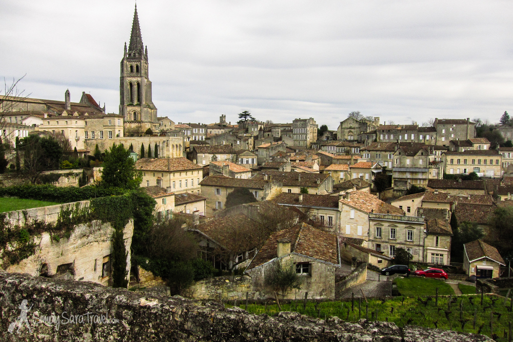 The town of St Emilion, France