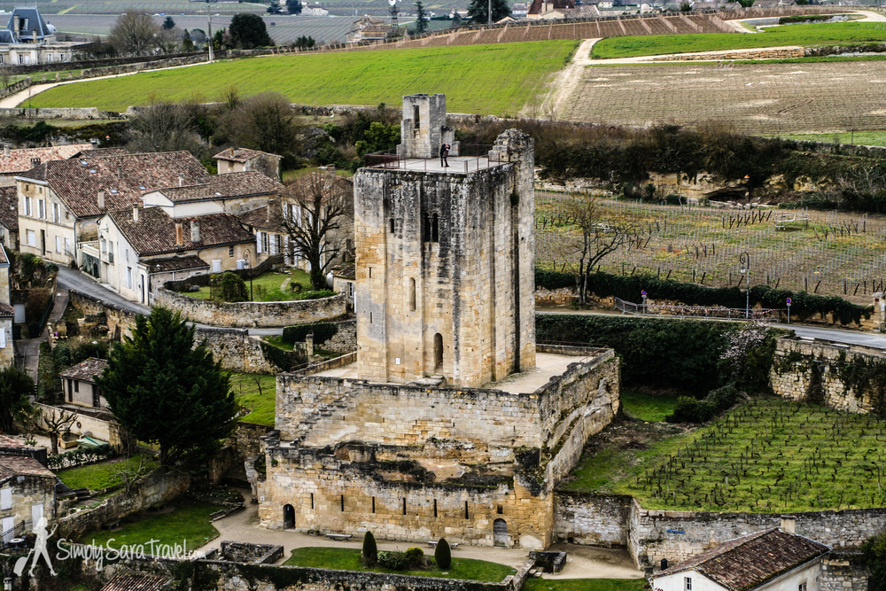 View from the bell tower of Saint-Emilion, France
