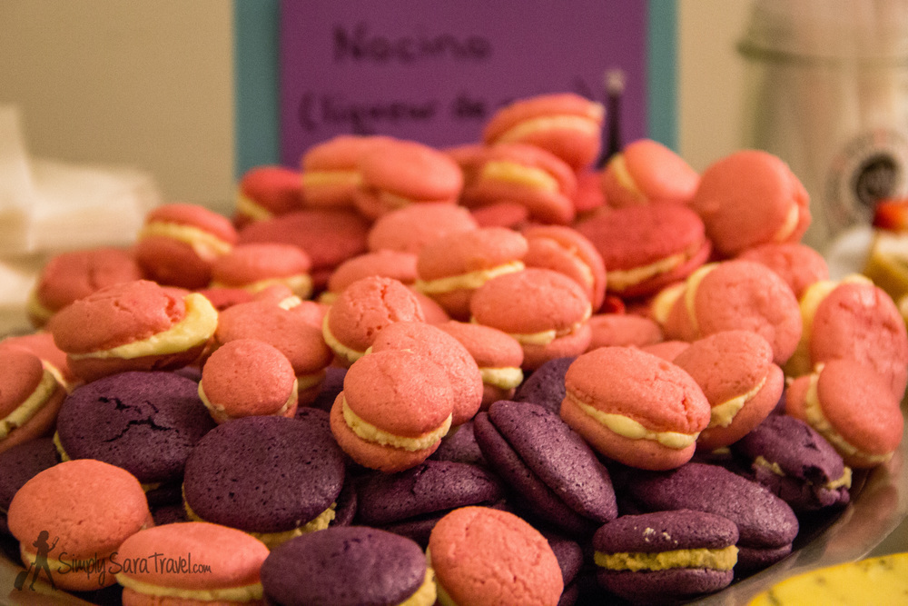 Homemade macarons with Almond, Nocino (walnut-flavored liqueur), and Limoncello fillings