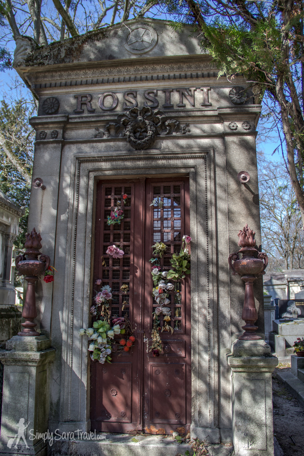 Italian composer Gioachino Rossini's crypt can be found easily near the main entrance. His remains have been transferred to Florence but his former resting place still honors his memory.