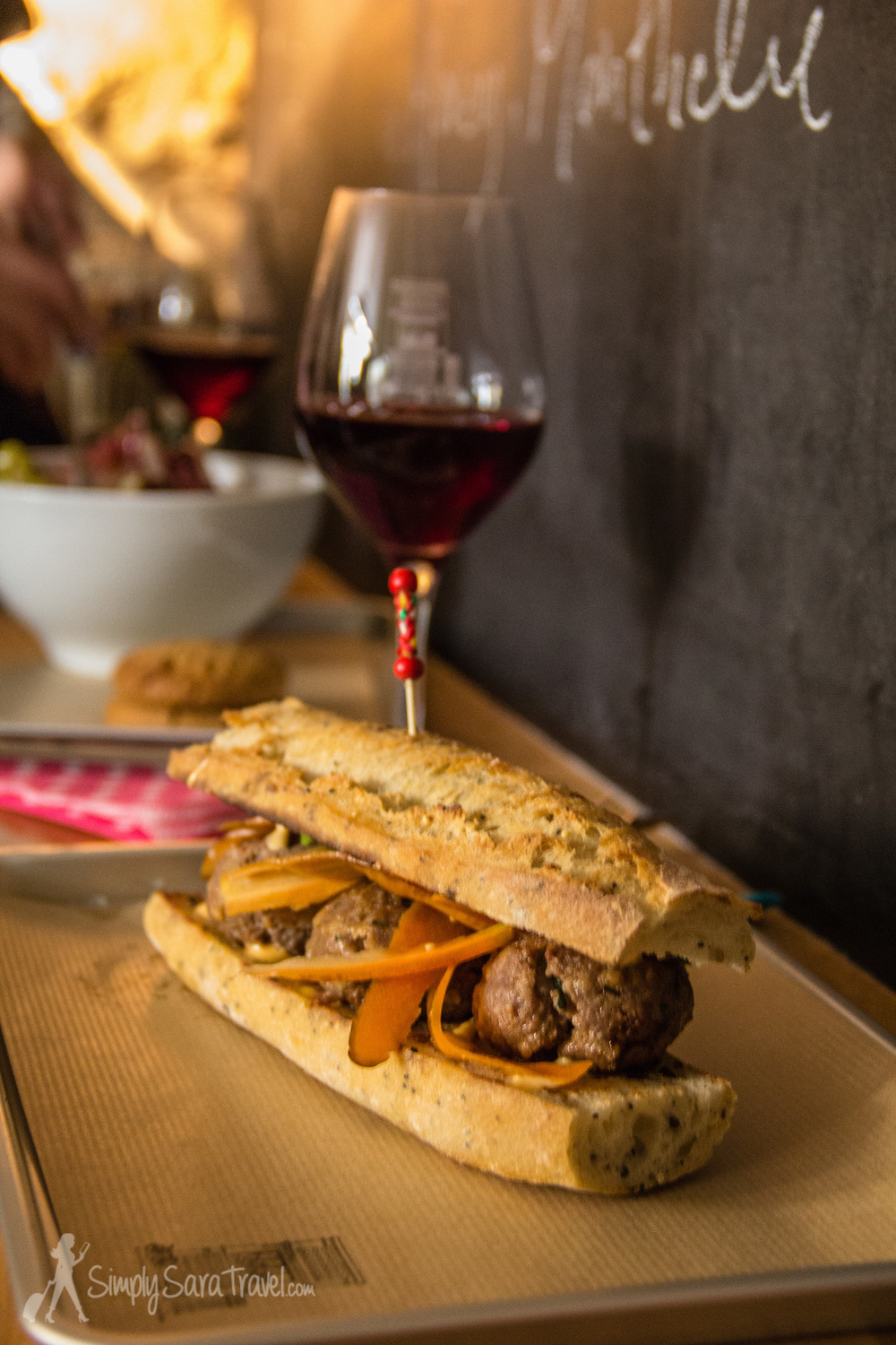 No introduction needed - the duck meatball sandwich