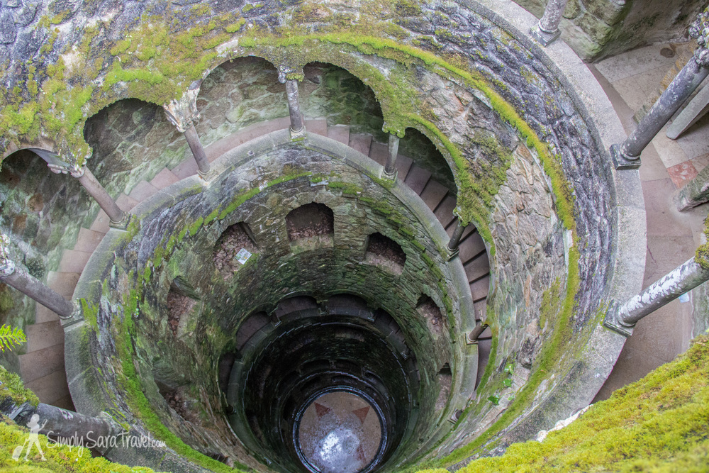 We climbed up the staircase of the well to get a view from the top too.