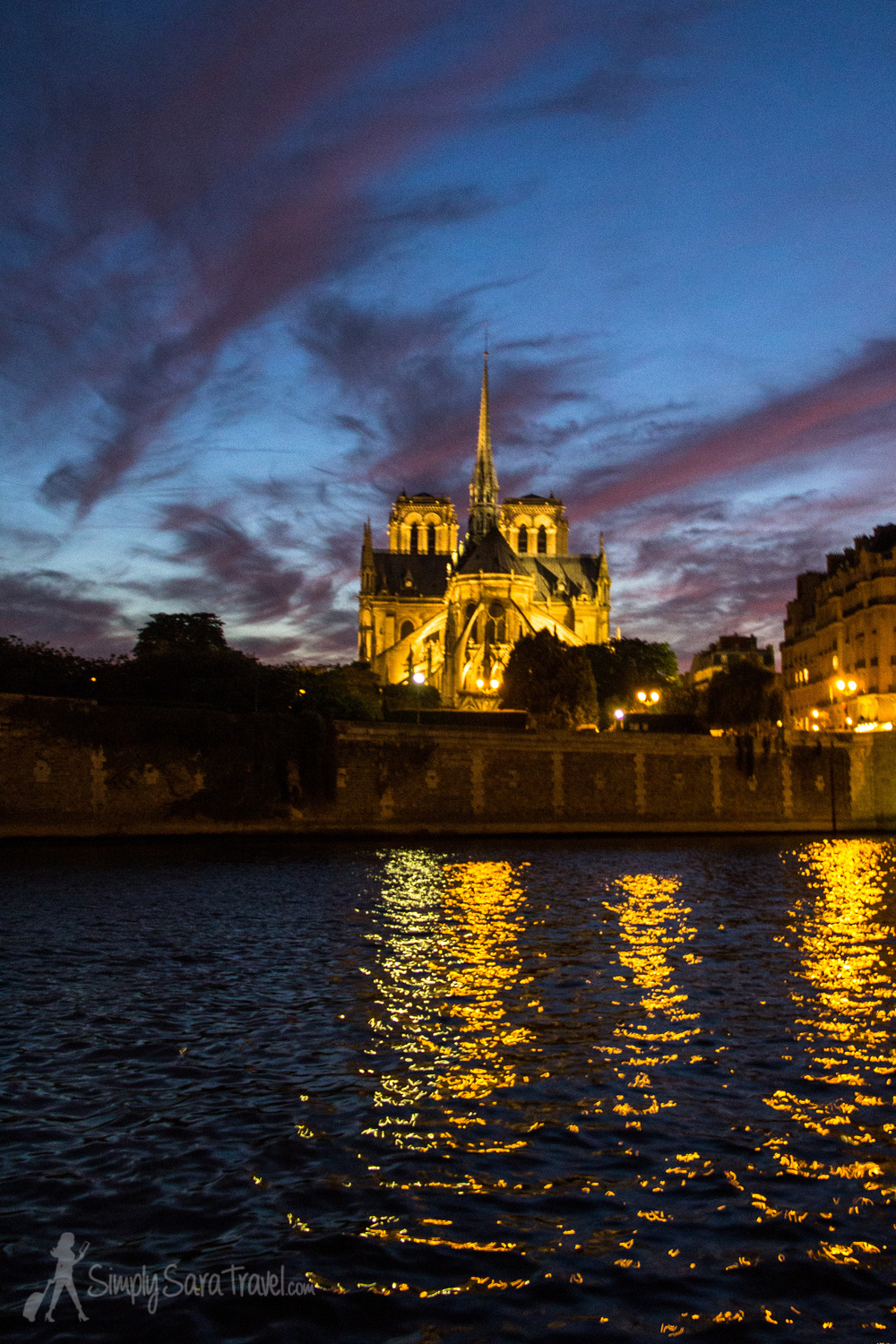 Night Falls on Notre Dame (Paris)