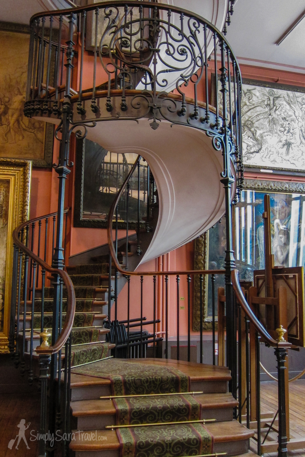 Staircase at Musée Gustave Moreau